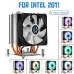 Оригинал              Вентилятор охлаждения процессора 4 Медь Тепловые трубки 90 мм RGBA urora Легкий вентилятор охлаждения для Compurter Intel LGA 2011 Радиатор охлаждения рад
