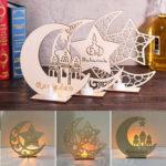Оригинал              3 Типа Ид Мубарак Луна Украшение Деревянная Исламская Мечеть Доска Кулон Рамадан Украшения