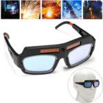 Оригинал              Автоматическая затемняющая сварка на солнечных батареях Маска Сварочные очки с защитным шлемом Очки Дуговые защитные очки для защиты ПК
