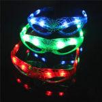 Оригинал              Светодиодный светящийся Очки Flash светящийся слепой очки вечеринка свет Свадебное карнавал танец бар рождественская игрушка