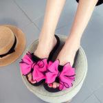 Оригинал              Women Flower Open Toe Повседневная Лето Пляжный Тапки