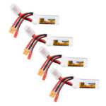 Оригинал              4Pcs ZOP Power 11.1V 450mAh 70C 3S Lipo Батарея JST XT30 Разъем для FPV Racing Multi Rotor