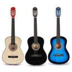 Оригинал              38 дюймов 6-струнная деревянная акустическая гитара с гитарой Сумка для начинающих