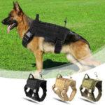 Оригинал              L Размер 1000D Pet Trainer Nylon На открытом воздухе Военный Тактический Собака Тренировочный Molle Compact Vest Harness MOLLE System Одежда