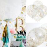 Оригинал              20шт 12 дюймов прозрачный Латекс золотой конфетти Воздушный шар Свадебное декор на день рождения