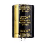 Оригинал              15000UF 63V 30x50mm Радиальный алюминиевый электролитический конденсатор Высокочастотный 105 ° C