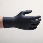 Оригинал              100шт одноразовые Перчатки защита тонкая секция пвх Водонепроницаемы черная работа Перчатки