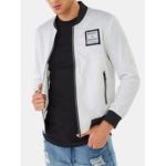 Оригинал              Mens Fashion Solid Color Turn Down Collar Pocket Jacket