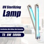 Оригинал              T5 6W UV Ультрафиолетовая дезинфекция Стерилизующая Лампа Трубка Бактерицидный клещ Light UV Стерилизатор