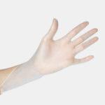 Оригинал              100шт ПВХ прозрачный одноразовый нитрил Латекс Перчатки 3 размера