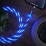 Оригинал              Type-C Светодиодный Кабельная линия Micro USB-кабель для передачи данных Кабель питания Люминесцентный световой кабель Colorful