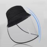 Оригинал              ПВХ складная защитная капля пыли слюны Anti-Fog Маска Caps
