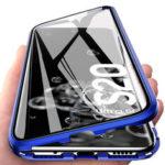 Оригинал              Bakeey 360 ° Изогнутый магнитный флип Двухсторонний 9H Закаленное стекло Металлическое Защитное покрытие для всего тела Чехол для Samsung Galaxy S20 Ultra