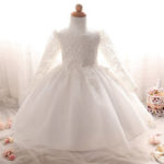 Оригинал              Girls Princess Платье Кружева Zip Up Bowknot Mesh Детская одежда