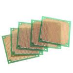 Оригинал              5шт 60 * 60мм DIY Односторонняя зеленая Масло PCB Универсальная печатная плата