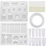 Оригинал              213Pcs DIY Формы для литья эпоксидной смолы Набор Силиконовый Ювелирные изделия Кулон Craft Make Mould