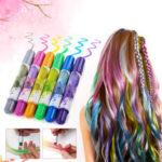 Оригинал              Hair Chalk, Временная краска для волос Luckyfine, Chalk для волос для детей, 6 Colorful Ручки Chalk для волос, набор для временных волос Chalk, Моющаяся краска для