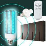 Оригинал              60 Вт E27 UV Озон Бактерицидный Стерилизатор Лампа UVC LED Функция таймера лампочки кукурузы + Дистанционное Управление