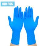 Оригинал              100шт одноразовые Перчатки изолят предотвращают Перчатки Водонепроницаемы ПВХ синтез нитрила Латекс удобный Перчатки