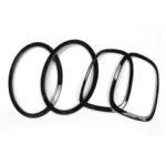 Оригинал              4шт черный задний фонарь фары задний фонарь кольцо для мини купер One JCW F55 F56