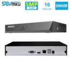 Оригинал              SOVMIKU SFNVR H.265 16CH 5MP CCTV NVR Mootion Detect CCTV Сетевой видеорегистратор ONVIF P2P Для IP камера 4MP / 3MP / 2MP Система безопасности