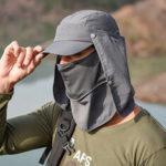 Оригинал              Солнцезащитный чехол Face Visor На открытом воздухе Рыбалка Шапка Летняя быстросохнущая кепка Дышащий Шапка Бейсболка