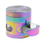 Оригинал              Цвет радуги 4 слоя 63мм цинковый сплав Форма сигнала с ящиком Grinder Tobaccos Grinder Herb Grinder