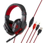 Оригинал              3,5 мм USB игровая гарнитура Bass Headphone Cool Светодиодный Более Уши стереонаушников