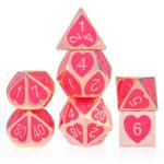 Оригинал              7шт цинкового сплава многогранные кубики для рпг MTG DND подземелья драконов ролевые игры в настольные игры в кости