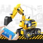 Оригинал              580 шт. DIY Technic RC Экскаватор 2.4 ГГц Дистанционное Управление Гусеничный Инженер Авто Блоки Строительная Модель Игрушки