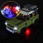 Оригинал              DIY Светодиодный Набор ТОЛЬКО ДЛЯ LEGO 42110 Техника Land Rover Defender Авто Кирпич