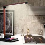 Оригинал              Bakeey 10 Вт Быстрая Зарядка Беспроводное Зарядное Устройство Смарт Складной Стол Для Чтения Аккумуляторная LED Стол Лампа Для Наушников Гарни