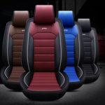 Оригинал              5 / 7Seats Авто Передняя крышка сиденья Водонепроницаемы Пылезащитный PU кожаный защитный коврик коврик