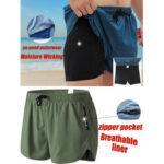 Оригинал              Мужские спортивные дышащие шорты на шнуровке с капюшоном с сеткой на молнии Карманные мини-шорты Loungewear