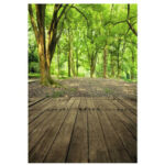 Оригинал              3x5FT Лесной Пейзаж Деревянный Пол Виниловый Фон Фотографии Опора Фото Фон