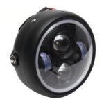 Оригинал              6.5 Inch LED мотоцикл Фара Ретро Фара с Кронштейном Angel Ring Привет / Lo Лампа для Harley Кафе Racer Bobber