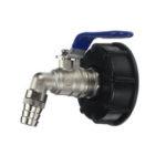 Оригинал              1/2 дюймов S60x6 IBC Водяной бак Адаптер Выходной клапан Сменный клапан Фитинг для дома Сад Вода Коннектор