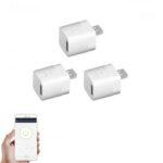Оригинал              3шт Micro 5V Беспроводной USB Smart Adapter WiFi Mini USB адаптер питания APP Дистанционное Управление Переключатель голосового управления для умного дома Р