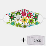 Оригинал              2Pcs PM2.5 Фильтр Цветочные пылезащитные маски с дыхательными масками Одноразовые