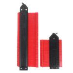 Оригинал              5 и 10 дюймов Калибр контура блокировки ABS Копия профилирования формы Инструмент Мгновенный шаблон для углов и контуров изогнутой формы