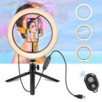 Оригинал              10 дюймов LED Ring Light Dimmable Desktop Selfie Light Штатив Подставка для YouTube Tiktok Видео Прямая трансляция Макияж Фотография