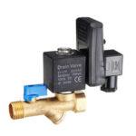 Оригинал              LAIZE AC220V Электронный автоматический таймер для воды, сливной клапан прямого действия, 20 мм, резьбовое соединение