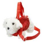 Оригинал              Симпатичная плюшевая игрушка сумка для хранения Сумка карандаш Чехол Собака мультфильм ручка Сумка для студента Школа канцелярские прина