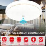 Оригинал              LED Motion Датчик Потолочный светильник Спальня Кухня Круглый Панель Home Fixture Лампа