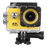 Оригинал              4K Action камера Wi-Fi Спорт камера Ультра HD 30M 170 ° Широкоугольный Водонепроницаемы DV Видеокамера с гироскопом EIS Dual Анти Shake