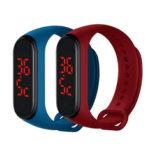 Оригинал              Bakeey V8 Мониторинг температуры тела Термометр Браслет Большой номер Дисплей Smart Watch