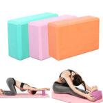 Оригинал              120 г EVA Solid Yoga Блоки для дома Пилатес Подушка поддержки Подушка Подушка Крытый Спортзал Yoga Упражнение Набор