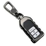 Оригинал              Крышка ключа автомобиля Чехол держатель протектор аксессуары черный для Honda Accord 2018 2019