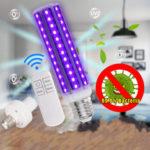 Оригинал              Дезинфекция UV Лампа 30 Вт E27 LED Колба Ультрафиолетовый Очиститель бактерий Corn Light с 110 В / 220 В Дистанционное Управление