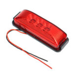 Оригинал              3 LED Боковые габаритные фонари Индикаторы Отражатель Грузовой автомобиль с прицепом RV 12-24В